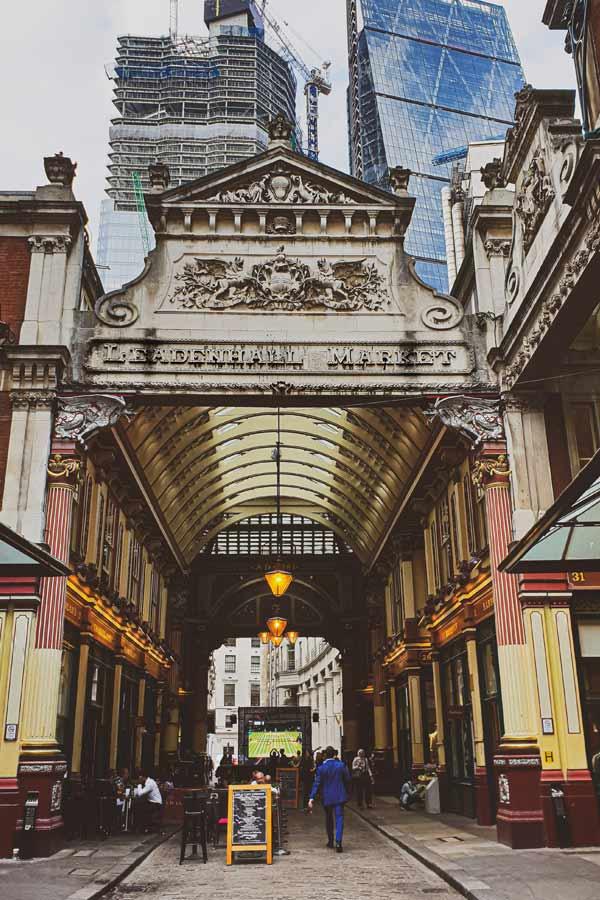 Inside the Victorian Leadenhall Market, London