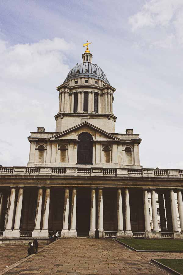 Exterior of the Old Royal Naval College in Maritime Greenwich