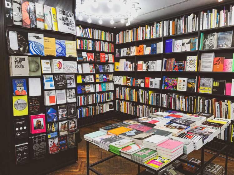 book displays in Whitechapel Gallery Bookshop