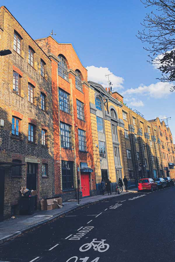 historical street in Bermondsey near London Bridge
