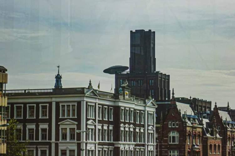 UFO landed on a building in Utrecht, the Netherlands