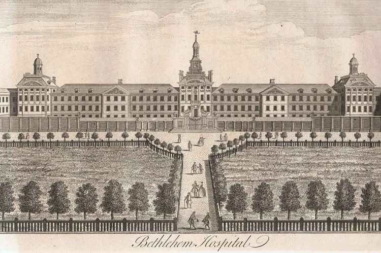 Drawing of the Bethlehem Hospital London (1739)
