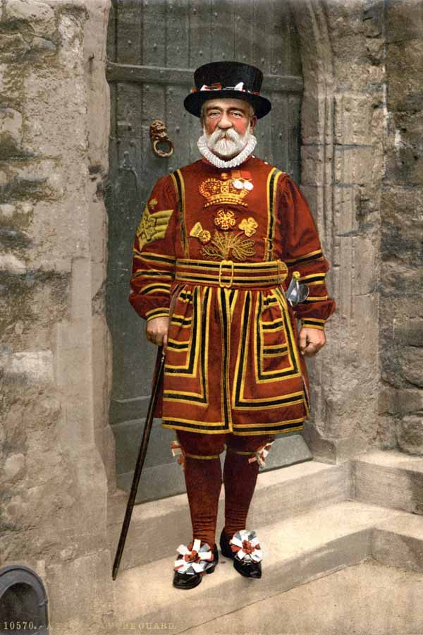 Illustration of an Beefeater, or Yeoman Warder at the Tower of London