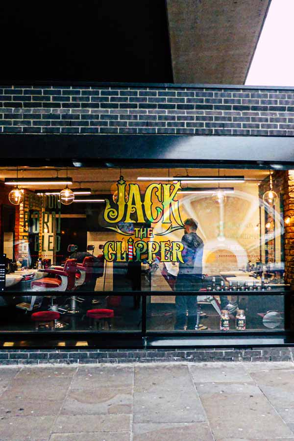 Jack the Clipper barber's on Brick Lane near Whitechapel, London