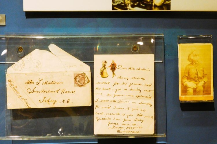 Only surviving letter written by Joseph Merrick, on display in the Royal London Hospital museum in Whitechapel, London