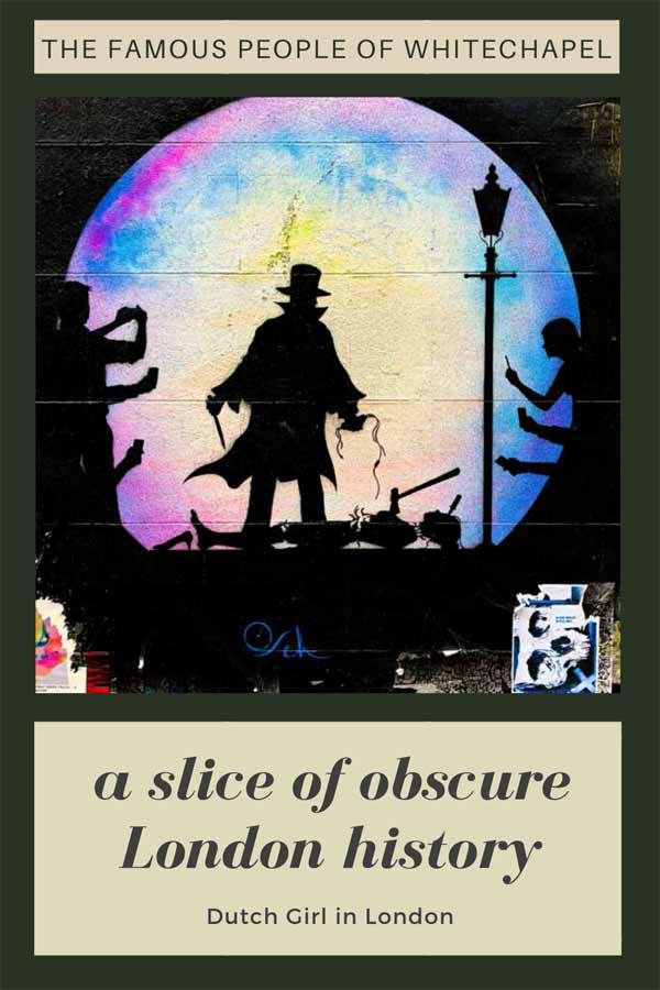 Obscure London history of Whitechapel London on Pinterest