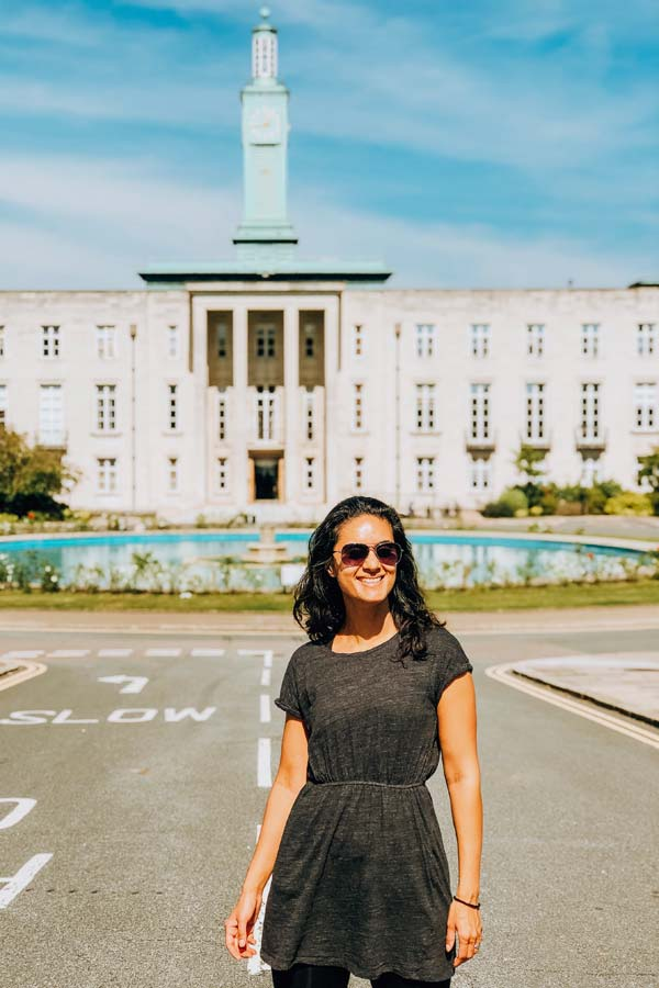 Portrait of Zarina in Walthamstow by the Town Hall