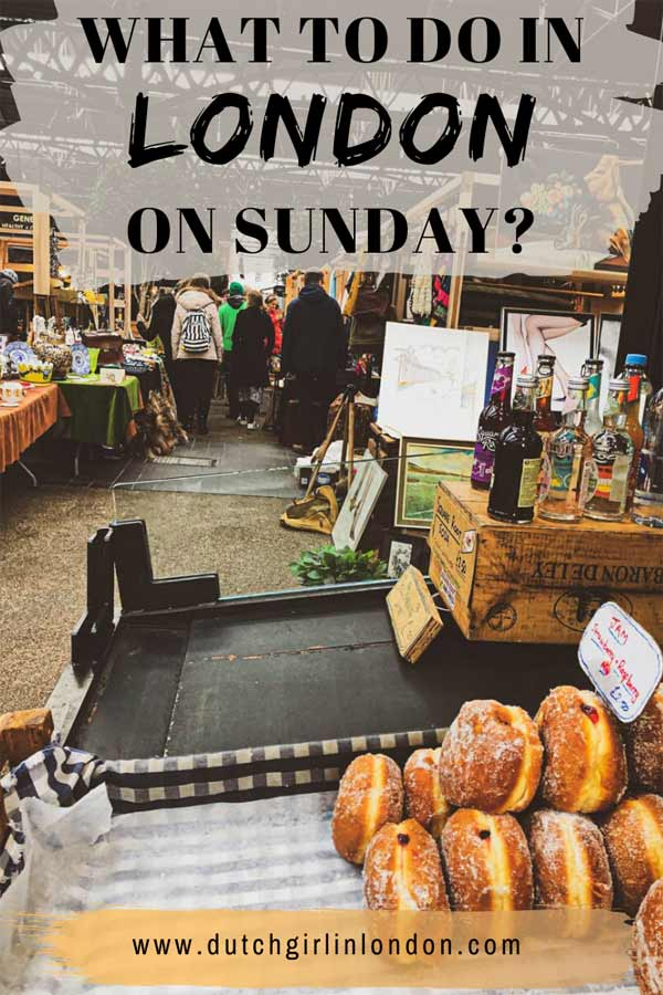 Pinterest image for what to do in London on Sunday?