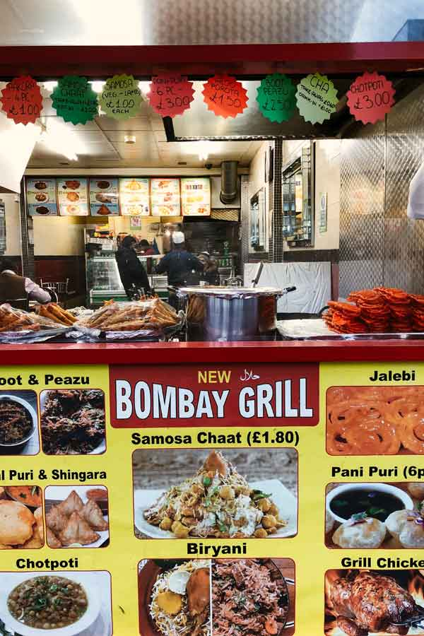 Curry restaurant in Whitechapel, London
