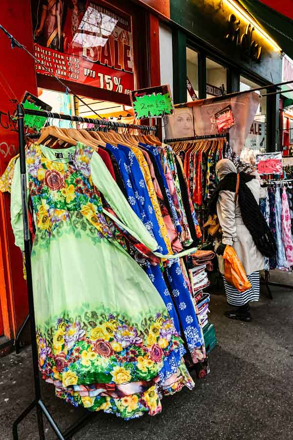 Saree shop in Whitechapel, London
