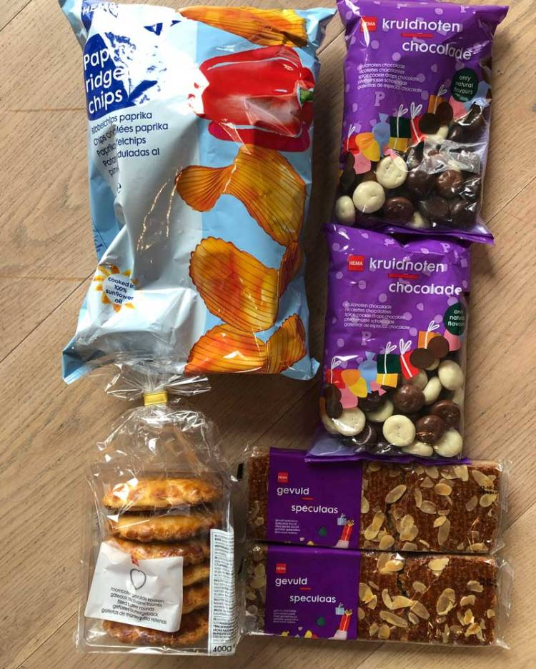 collection of Dutch snacks and treats