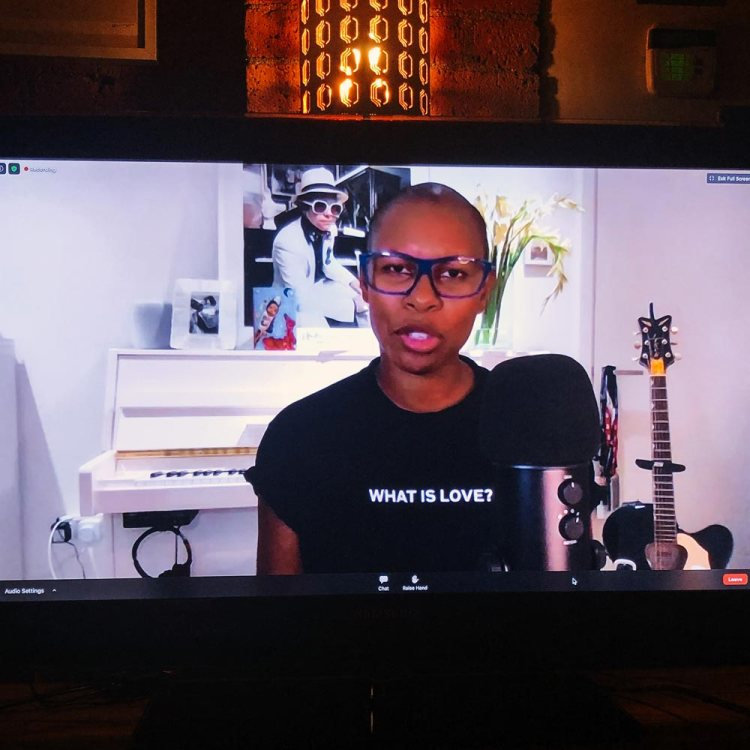 Screenshot of Skin during the live Q&A about her biography