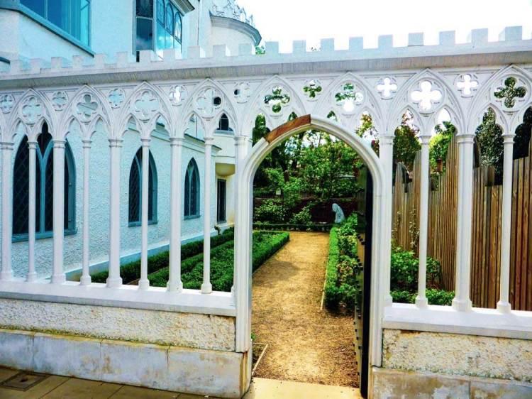Strawberry Hill House herb garden
