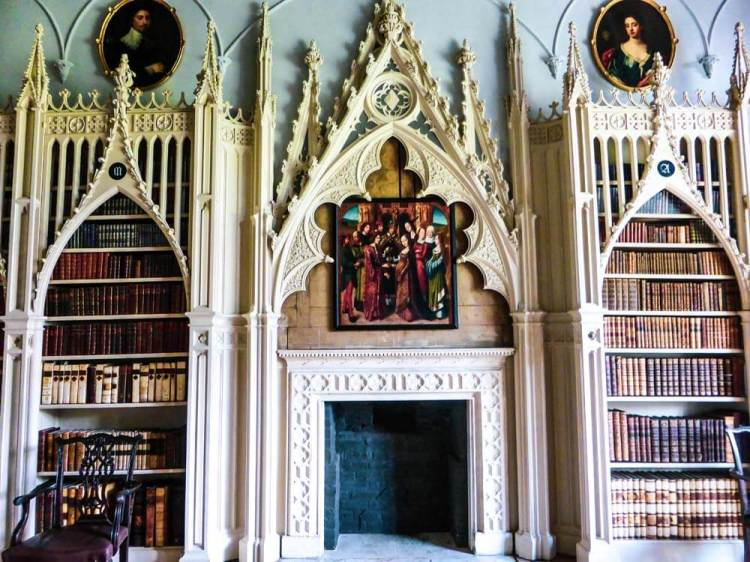 Gothic library at Strawberry Hill House
