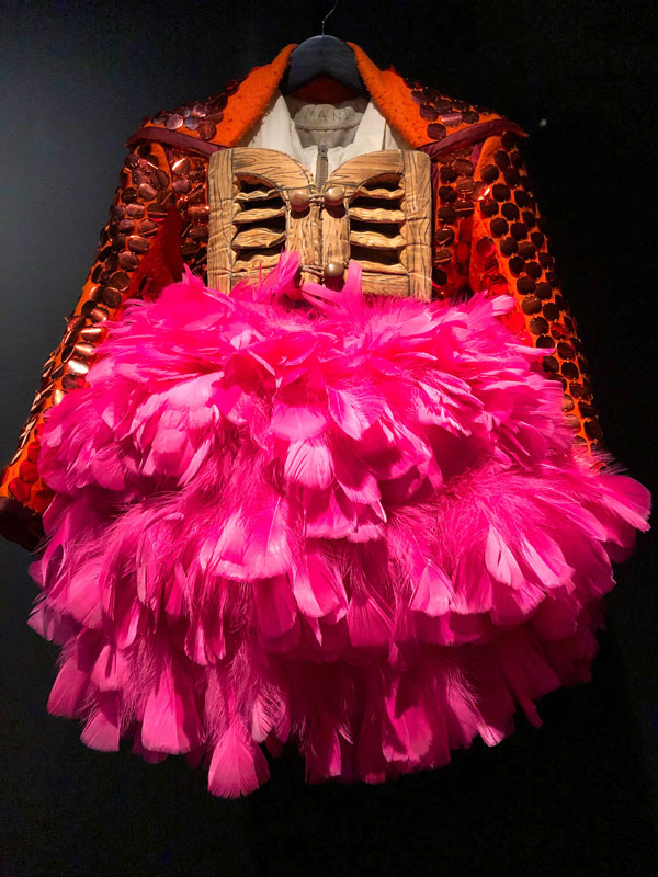 close-up of a costume worn in a performance by the Michael Clark Company